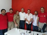 Adilson de Oliveira e Samir Ali alinham vinda do Samu para Vilhena em parceria com o Corpo de Bombeiros