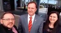Adilson de Oliveira visita senador Gurgacz e cobra peritos para o posto do INSS em Vilhena