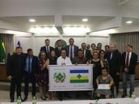 Câmara entrega Moção de Aplauso ao criador do brasão e bandeira de Vilhena