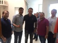 Deputado Federal Expedito Netto visita presidente da Câmara Adilson de Oliveira