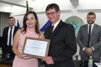 Em mês da mulher, delegada vilhenense recebe homenagem na Câmara