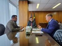 França Silva e Coronel Chrisóstomo se reúnem com secretário da Previdência para solucionar falta de médicos peritos no INSS em Vilhena