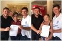 Mães de vereadores Samir e Tabalipa dão exemplo e assinam permissão de doação em contas de água