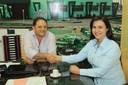 Presidente da Câmara consegue com prefeita Rosani Donadon carga de cascalho para manutenção do pátio do Posto Fiscal