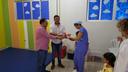 Presidente da Câmara e Samir Ali doam vídeo-game para brinquedoteca do Hospital Regional
