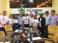 Presidente da Câmara e vereadores debatem políticas públicas de segurança com a equipe do Programa Rondônia Mais Segura