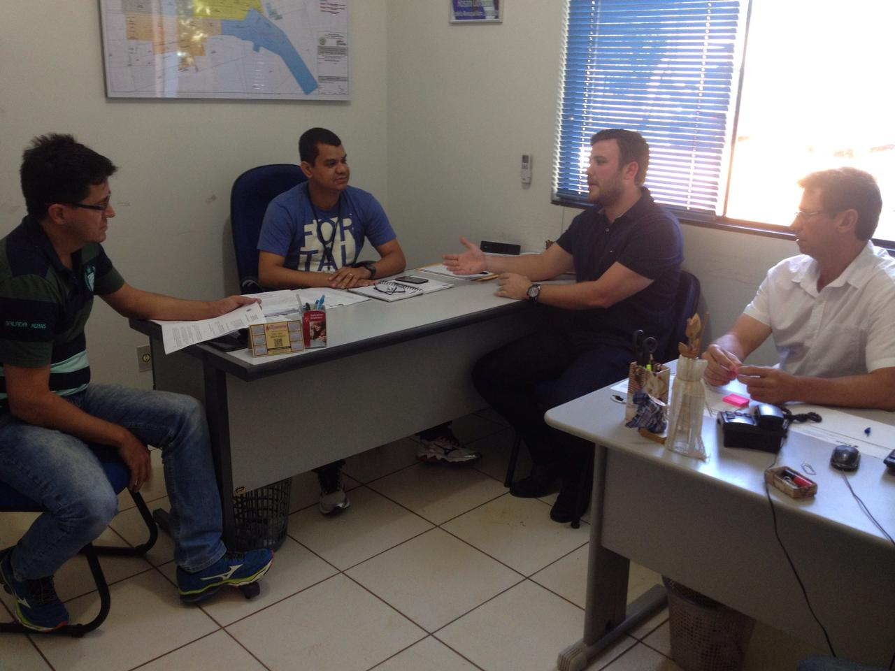 Samir Ali e Wilson Tabalipa vão ao SAAE acertar detalhes sobre doação para entidades na conta de água