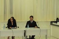 Wilson Tabalipa e Valdete Savaris tomam posse durante sessão ordinária na Câmara de Vilhena